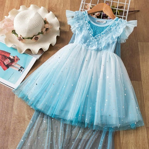 Girls Dress 2020 New Elsa Dress Girl Party Vestidos Cosplay Girl Clothing Anna Snow Queen Birthday Princess Dress Kids Costume
