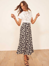Load image into Gallery viewer, Summer High Waist Women Fashion Floral Daisy Skirt 2020 Loos Long Skirts Female Harajuku Korean Style Streetwear Elegant Skirts
