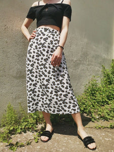 Summer High Waist Women Fashion Floral Daisy Skirt 2020 Loos Long Skirts Female Harajuku Korean Style Streetwear Elegant Skirts