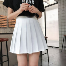 Load image into Gallery viewer, Summer sex A-line Mini Skirt Vintage Casual Women Plaid Skirt Chic Sashes Korean Irregular Lady Skirt Female Sweet High Waist