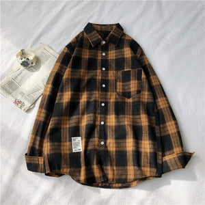 RUIHUO 2020 New Spring Long Sleeve Red Black Plaid Shirt Men Slim Fit Cotton Casual Shirts Men Clothing Fashion Brand M-3XL