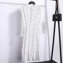 Load image into Gallery viewer, 2019 Summer Hot Selling AliExpress Cross-Border Hot Selling Korean-style Mid-length Floral-Print Polkadot Pleated Dress 8010