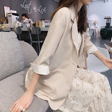 Load image into Gallery viewer, Mishow 2019 Women Long Sleeve Solid Color Turn-down Collar Coat New Korean Ladies Cardigan Jacket Suit Blazer Top MX19B6115