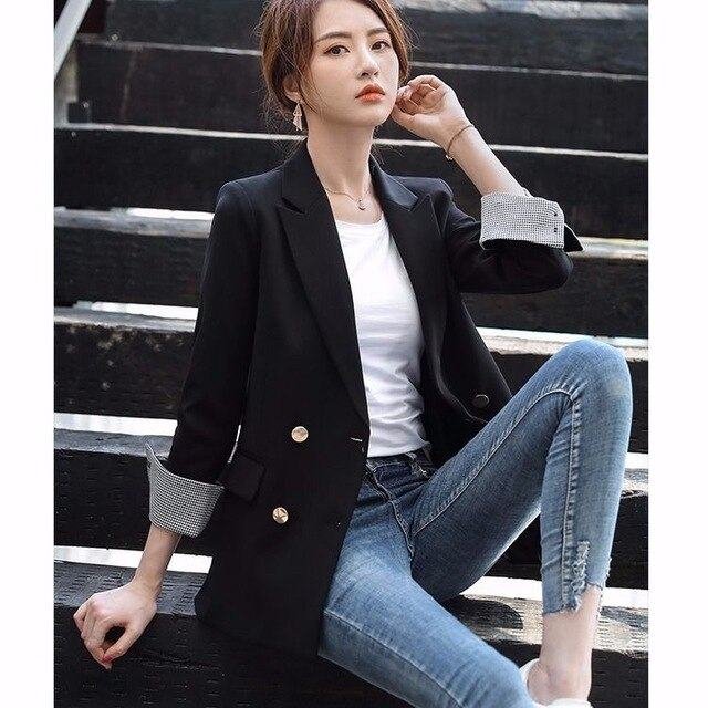 Women Blazers Spring and Autumn New Suit Jacket Women Korean-Style Fashion Temperament Loose Casual Womens Blazers