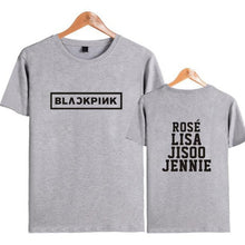 Load image into Gallery viewer, BLACK PINK BLACKPINK KPOP Girl's Group T Shirt Men/Wome JISOO JENNIE ROSE LISA Hip Hop Short Sleeve T-Shirt Femme Streetwear 4XL