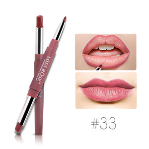 MISS ROSE Double-end Sexy Functional Lips Pencil Lip Liner Set Lipstick Pen Waterproof Long Lasting Pigment Makeup Cosmetics