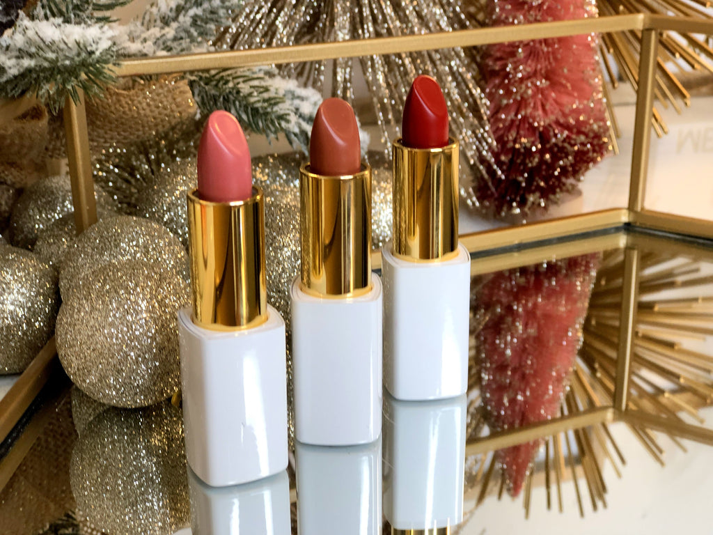 SET OF 3 LIPSTICKS - HOLIDAY COLLECTION