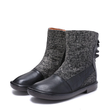 Retro Handmade Comfortable Cotton Linen Boots