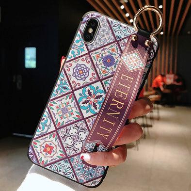【HUAWEI】Vintage Flower Pattern Phone Case