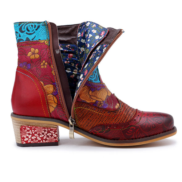 Women's Retro Handmade Vintage Style Leather Boots