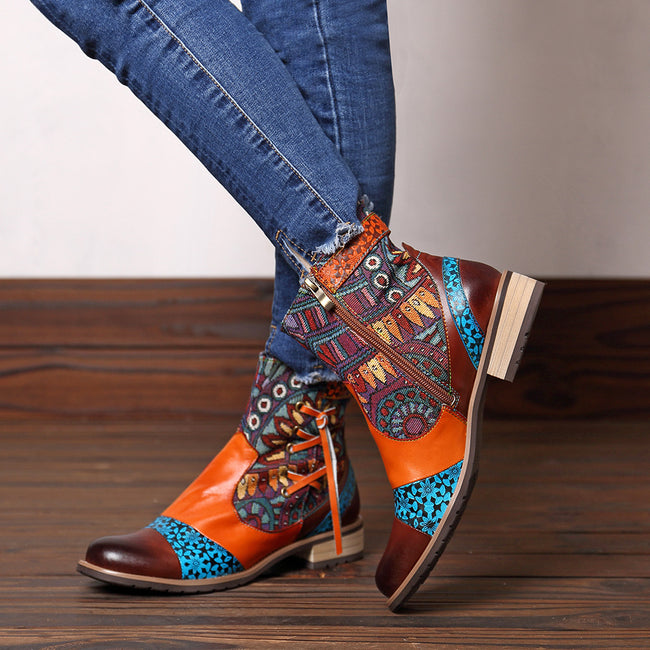 Casual Vintage Handmade Style Leather Boots - coolbuyshopstore
