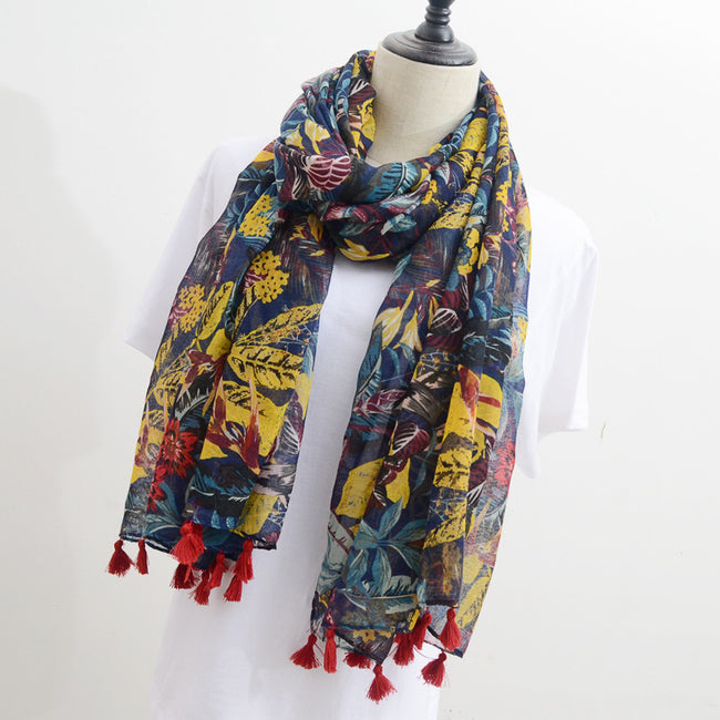 Retro Fashion Cotton Scarf - coolbuyshopstore