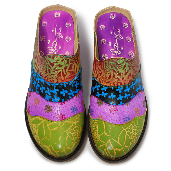 Stitching Handmade Leather European Craft Slippers