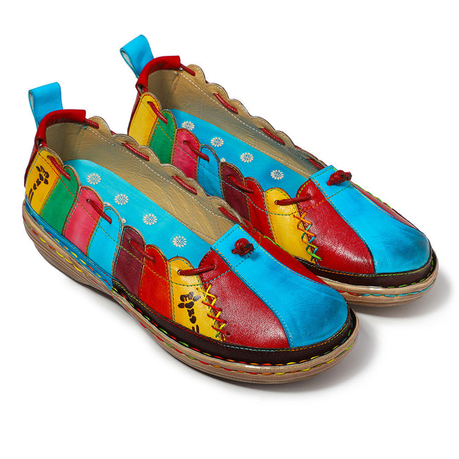 Leather Handmade Multi-color Soft Flats - coolbuyshopstore