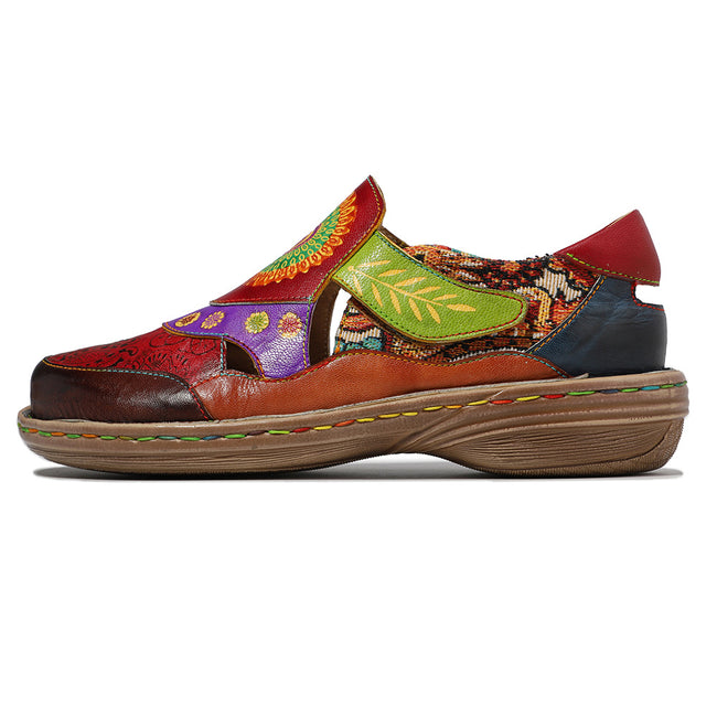 Floral Retro Soft Casual Flats - coolbuyshopstore