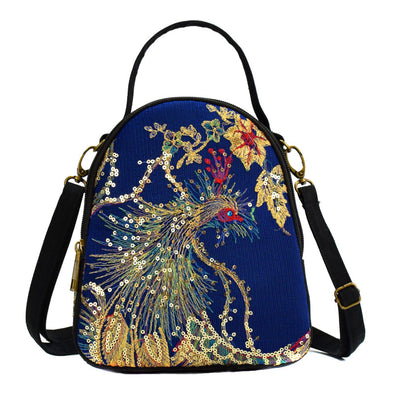 Ethnic Style Embroidered Sequin Small Packbag