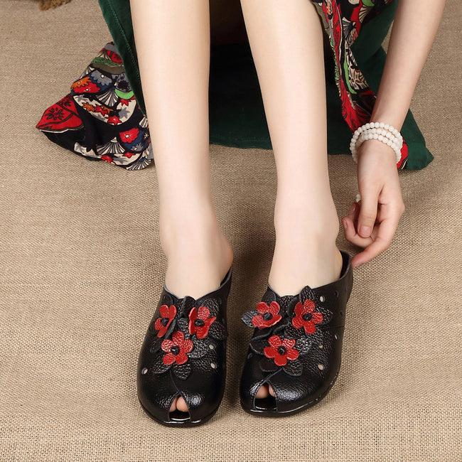 Vintage Ethnic Style Flower Women's Shoes - coolbuyshopstore