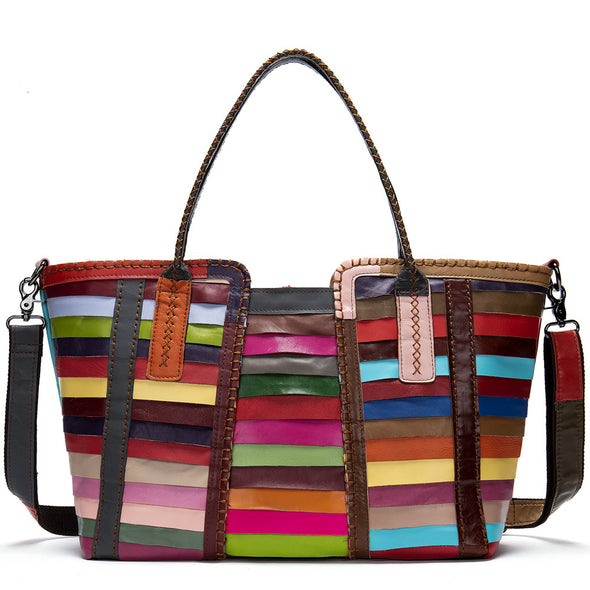 Colorful Compilation Ladies Shoulder Bag Handbag