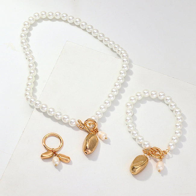 Pearl Vintage Alloy Pendant Women's Set-Accessories-coolbuyshopstore