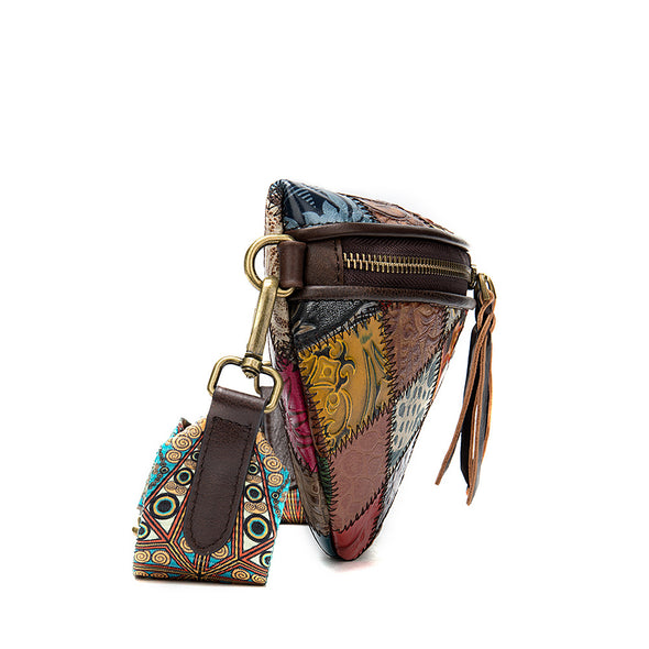 Stitching Fashion Embossed Crossbody Bag