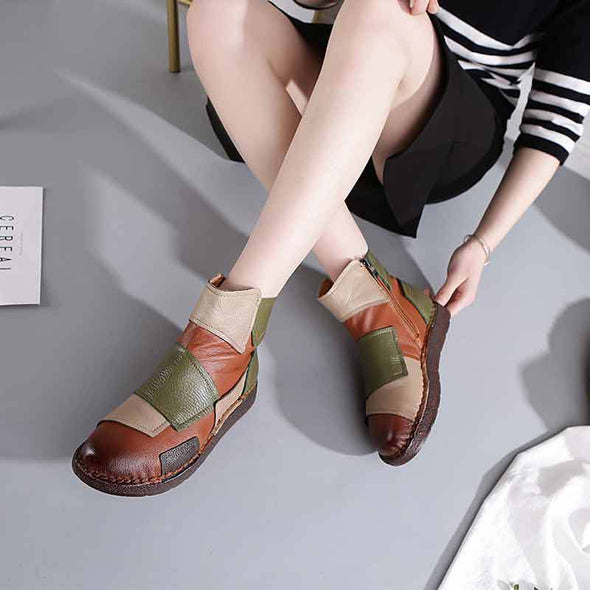 Retro Soft Soled Women Boots