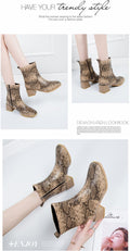 Women's Western Ankle Boot - coolbuyshopstore