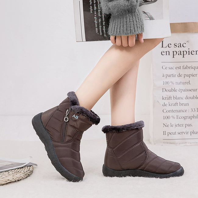 Women's Winter Snow Boots Zipper Ankle Boots - coolbuyshopstore