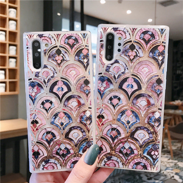 Vintage Embossed Marble Pattern Phone Case