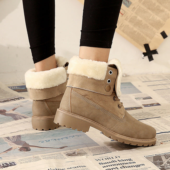 Winter Low Heel Women's Short Boots - coolbuyshopstore