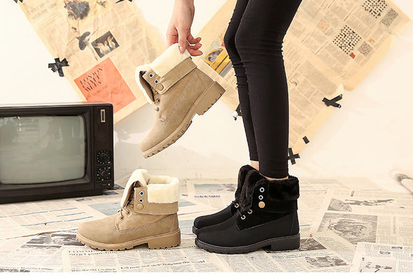 Winter Low Heel Women's Short Boots