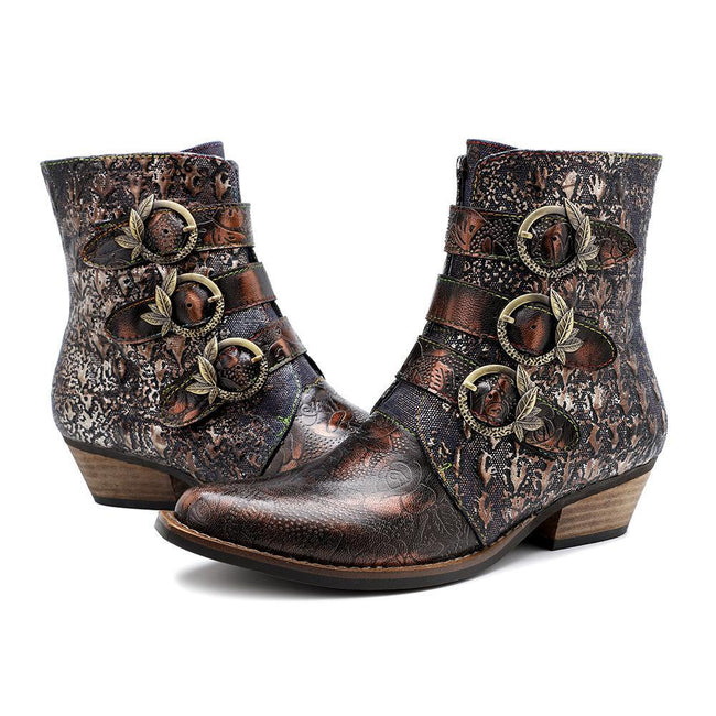 Casual Leather Retro High Quality Boots-Shoes-coolbuyshopstore