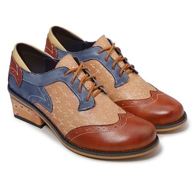Vintage Handmade Style Leather Fashion  Shoes