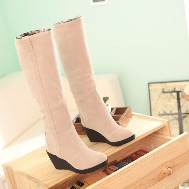 New Autumn Winter Cotton boots High Heel Boots - coolbuyshopstore