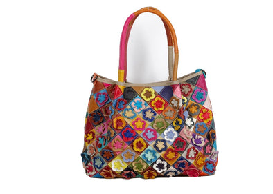 Women Bohemian Flower Large Capacity Handbags Patchwork Handmade