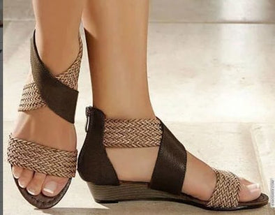 Cross Zipper Sandals
