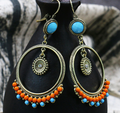 Bohemian Female Retro Fashion Round Wooden Beads Earrings - coolbuyshopstore