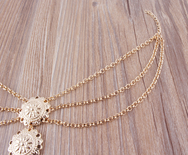 Carved Multi-layer Tassel Anklet - coolbuyshopstore