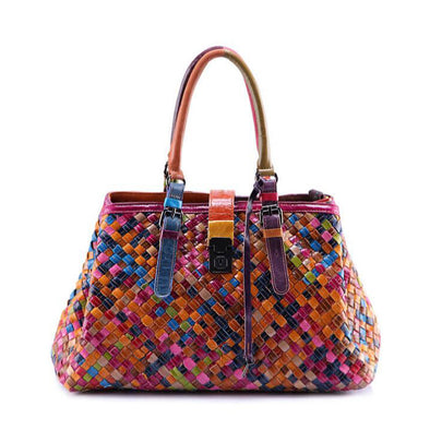 Fashion Western Style Colorful Handbag