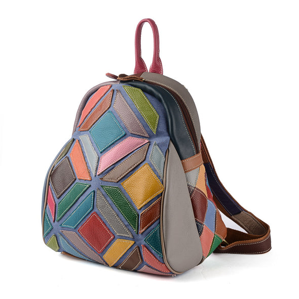 Casual Personality Stitching Casual Backpack