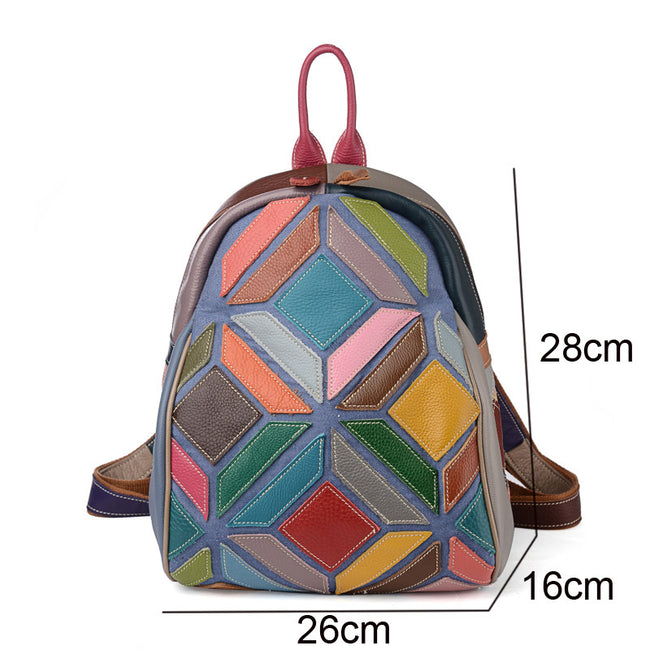 Casual Personality Stitching Casual Backpack - coolbuyshopstore