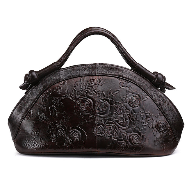 New Genuine Leather Bags, European Fashion Oil Wax Leather - coolbuyshopstore