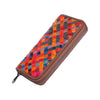 New Oil Wax Leather Braided Ladies Large Capacity Long Wallet-coolbuyshopstore