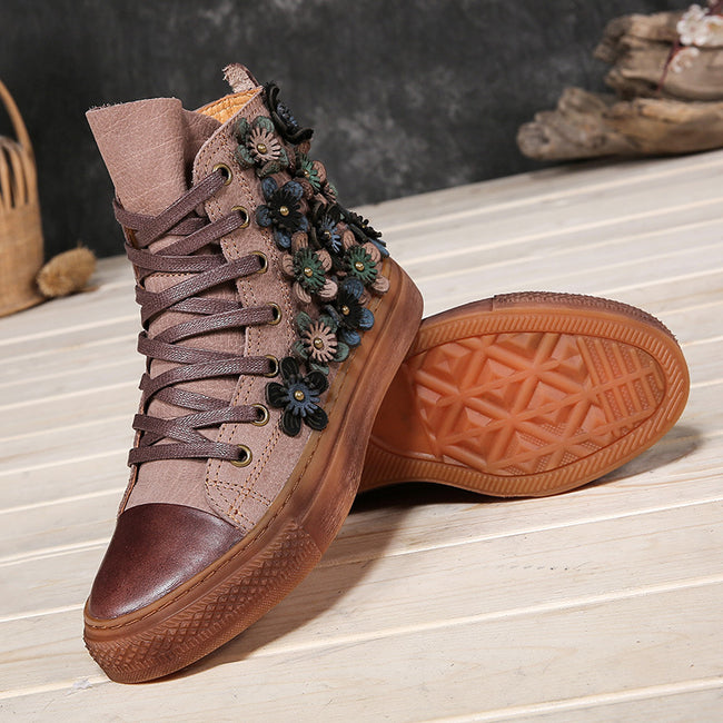 __IMITED__eather High-top Skateboard Shoes Retro Boots - coolbuyshopstore