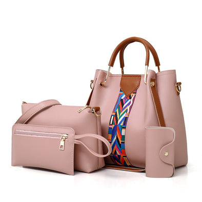 Fashion New Women Handbag and Purse Large Capacity 4 Pieces Bag Set Casual Lady Crossbody Bag