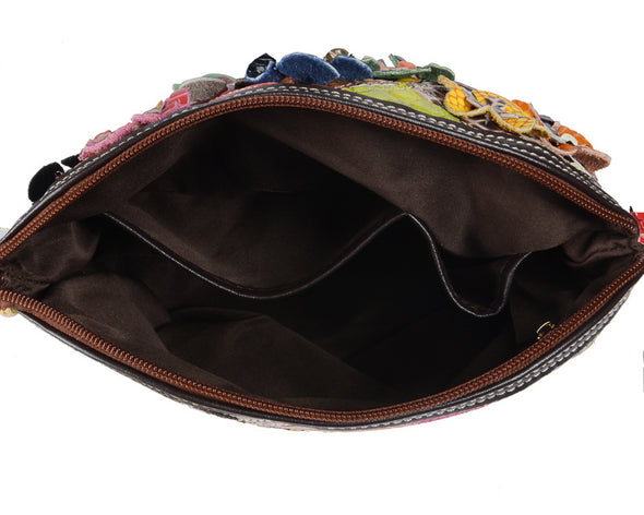 Colorful Leather Stitching Handbags