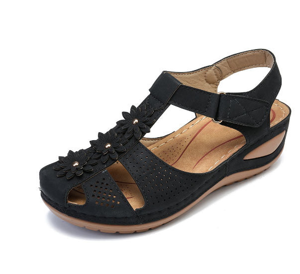 Flower Hook Loop Casual Women Fisherman Wedges Sandals - coolbuyshopstore
