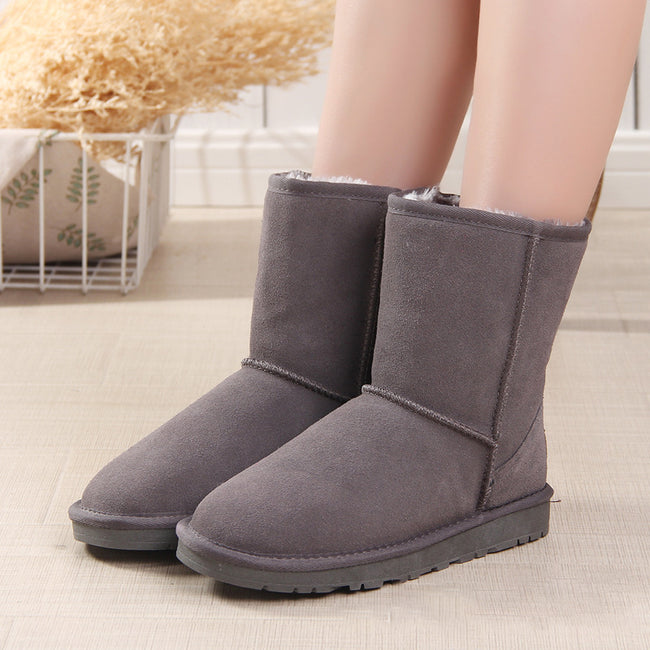 Winter Cotton Flat Round Snow Boots - coolbuyshopstore
