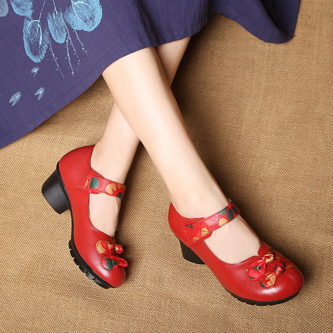 Non-slip Mid-heeled Heel Mary Jane shoes-shoes-coolbuyshopstore