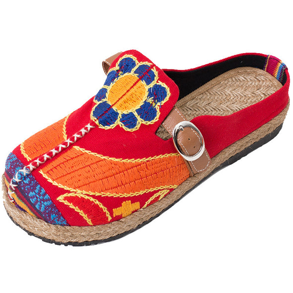 Embroidered Shoes National Embroidery Sun Flower Series Shoes