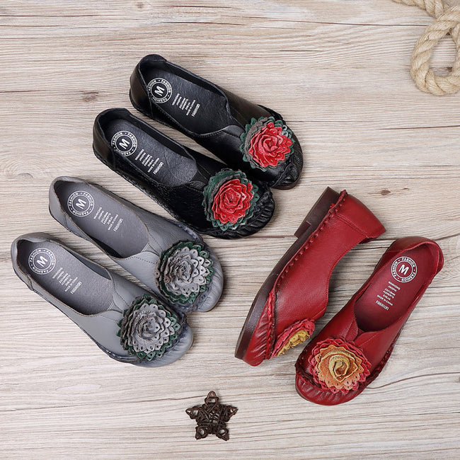 __IMITED__omen's Shoes Flat with Soft Bottom Non-slip Hand-sewn Shoes - coolbuyshopstore
